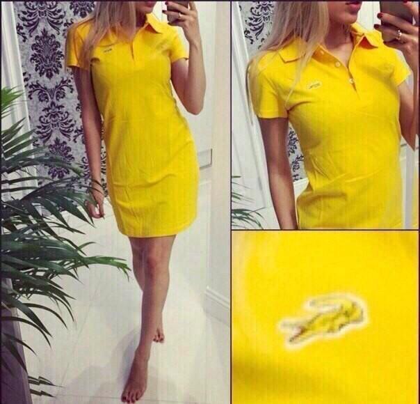 Платья lacoste желтое