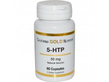 California Gold Nutrition, 5-HTP, 50 mg, 60 Capsules