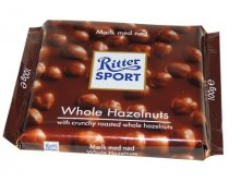 Шоколад RITTER SPORT Whole Hazelnuts , 100 гр.Цена 170 руб.