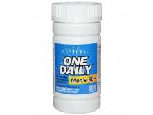 21st Century Health Care, One Daily, Men's 50+, Multivitamin Multimineral, 100 Tablets