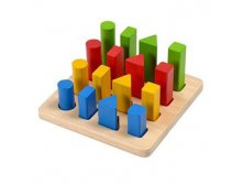 Geometric Peg Board от Plan Toy