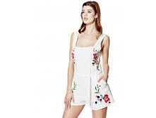 Audrina Embroidered Apron Romper