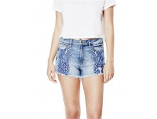 1981 High-Rise Pineapple Denim Shorts in Vessel Wash