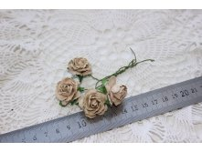 MULBERRY PAPER COTTAGE ROSES 25mm