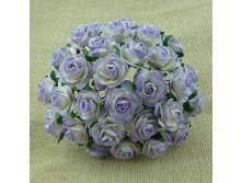 2-TONE LILAC MULBERRY PAPER OPEN ROSES 20мм