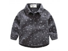 "Рубашка HLO Baby ""Star Boys"" Grey 490р 5(110) 6(116) 7(122)"