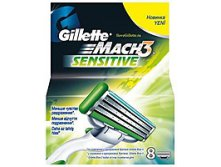 КАССЕТА ДЛЯ СТАНКОВ ДЛЯ БРИТЬЯ GILLETTE MACH3 SENSITIVE, 8 ШТ., 879 руб..jpg