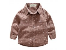 "Рубашка HLO Baby ""Star Boys""  Brown 490р 3(98) 4(104) 5(110) 6(116) 7(122)"