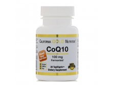 California Gold Nutrition, CoQ10, 100 мг, 30 TapiOgels