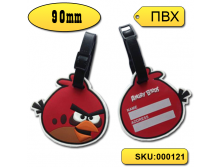 "Бирка на чемодан ""Angry birds-Red\"" 90 мм"