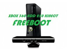 Xbox 360 (250Gb) с KINECT + Kinect Adventures +FREEBOOT (возможность играть без дисков)