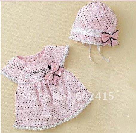 2011-summer-Baby-girl-hello-kitty-pink-dress-bow-three-sizes-80-90-95-dress-hat.jpg