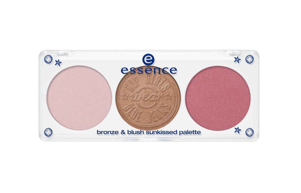Essence hip girls wear blue jeans Палетка для макияжа лица bronze & blush sunkissed palette, 01 sunkissed, what else?!